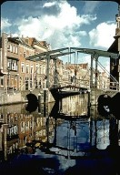 Canal and Bridge in Leyden