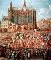 """The Departure of Louis XV from Sainte Chapelle after the """"Lit de Justice"""" 12th September 1715, 1735"""