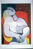 Woman Asleep on a Red Arm Chair (the Dream)