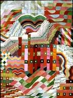 Slit Tapestry Red / Green
