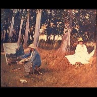 Claude Monet Sketching at the Edge of a Wood