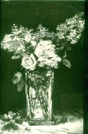 Vase of Roses and Lilacs