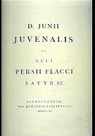 Satyre by Juvenalis