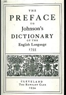 Preface to Johnson's Dictionary of the English Language