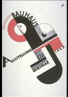 Poster Lithograph for the Staatliches Bauhaus Ausstellung Weimar