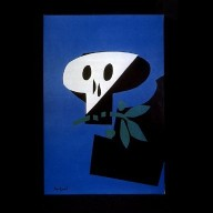 Untitled Peace Poster (Skull with Olive Branch)