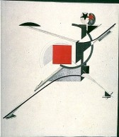 """New One, Design of a Figure for the Opera """"Victory over the Sun"""""""