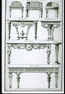Designs for Furniture in the Neoclassical Taste from the Recueil Elementaire d'Architecture