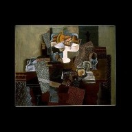 Still Life with Fruit Dish on a Table