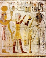 Isis, Sety I as Osiris