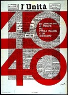 Poster for Communist Newspaper's 40th Anniversary