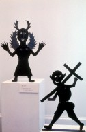 She Demon (upper left); Man Bearing Cross (bottom right)