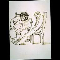 William Morris Reading to Burne-Jones