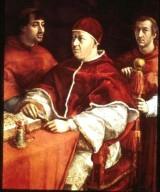 Pope Leo X with his Nephews Cardinal Giulio de'Medici and Luigi de'Rossi