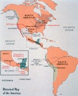 Historical Map of the Americas