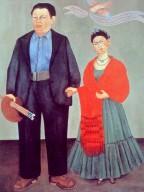 Frida Kahlo with My Beloved Husband Diego Rivera