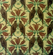 Wallpaper Design: Vultures and Lilies