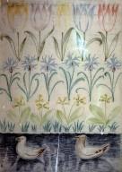 Wallpaper Frieze Design: Tulips and Seagulls