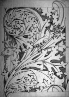 Wallpaper or Textile Design: Moose and Bird