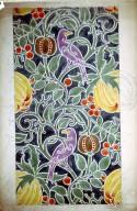 Wallpaper or Textile Design: Purple Birds