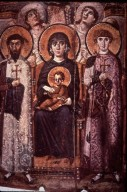 Virgin and Child Enthroned with Saints Theodore and George