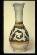 Bottle, Long-Necked: Foliage Scroll