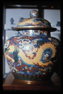 Jar with Cover: Dragon Design