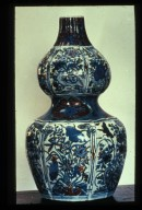 Vase, Five Color, Double-Bodied: Floral Motif