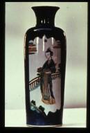Famille Noire Vase: Robed Woman