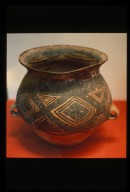Guan (Jar): Diamond and Triangle Pattern