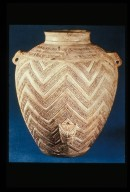 Guan (Jar) with Incised Chevron Design