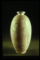 Bottle for Wine: Incised Male Figure