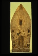 Stele: Maitreya with Two Attendants