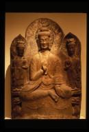 Stele: Buddha with Two Bodhisattvas