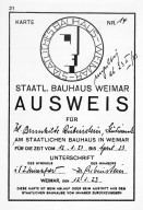 Bauhaus Student Indentification Card