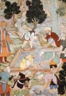 Baburnama: Babur Supervises Construction of Garden