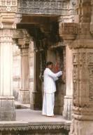Man Worshiping at Adalaj