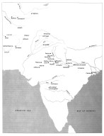 Map of Indian Subcontinent with Cities in Surrounding Environs