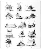 Examples of Indonesian Buildings with Gable Horns and Saddle Roofs