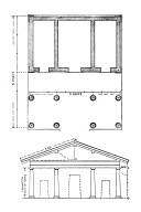 Etruscan Temple Based on Descriptions by Vitruvius