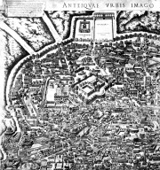 Map of Ancient Rome with the Porta Pinciana and Surrounding Area