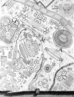 Map of the Campus Martius, in the Area of the Gardens of Lucullus (Horti Lucullani) and Mausoleum of Augustus
