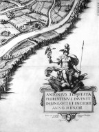 Map of Renaissance Rome at the Edge of the Trastevere
