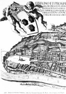 Map of 17th Century Rome in the Area of the Piazza del Popolo