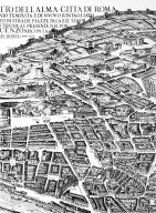 Map of 17th Century Rome in the Area of the Piazza Borghese and the Baths of Diocletian