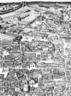 Map of 17th Century Rome in the Area of the Pantheon and Santa Maria Maggiore