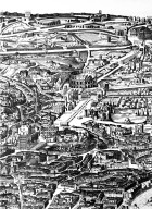 Map of 17th Century Rome in the Area of the Campidoglio and the Colosseum