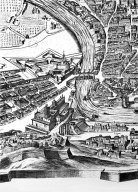 Map of 17th Century Rome in the Area of Santo Spirito and Sant'Agostino