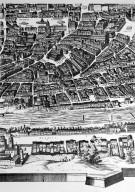 Map of 17th Century Rome in the Area of the Via della Lungara and Piazza Navona