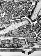 Map of 17th Century Rome in the Area of the Ponte Sisto (Sisto Bridge)